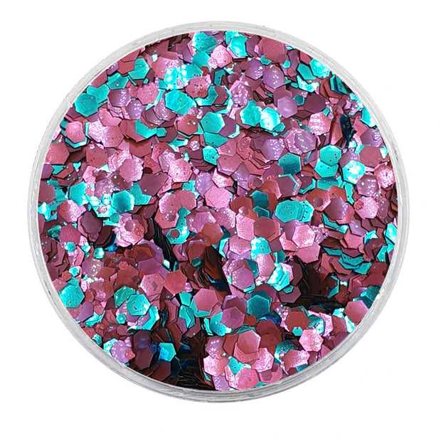 MUOBU Biodegradable Mixed Glitter - Metallic Festival Chunky Glitter Mix (BioMercury)