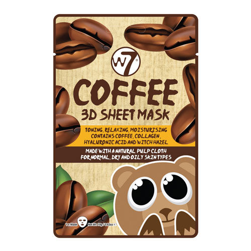 W7 Coffee 3D Sheet Face Mask