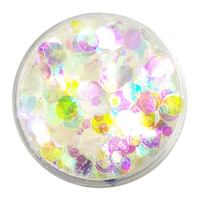 Clear Festival Glitter (Iridescent Chunky Glitter Mix) - Disco Pearl