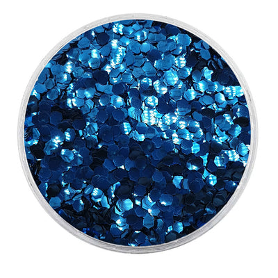 MUOBU Biodegradable Dark Blue Glitter - Mini Hexagon Metallic Glitter