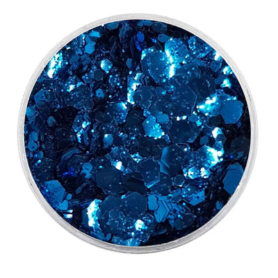 MUOBU Biodegradable Dark Blue Mixed Glitter - Metallic Festival Chunky Glitter Mix (BioRoyale)
