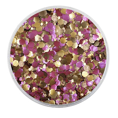 MUOBU Biodegradable Dark Bronze & Pink Mixed Glitter - Metallic Festival Chunky Glitter Mix (BioNeptune)