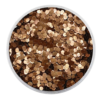 MUOBU Biodegradable Dark Bronze Glitter - Mini Hexagon Metallic Glitter