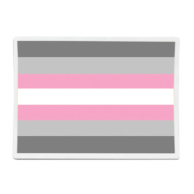 Demigirl Flag Rectangle Vinyl Waterproof Sticker