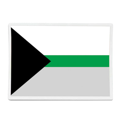Demiromantic Flag Rectangle Vinyl Waterproof Sticker
