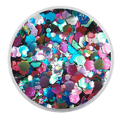 MUOBU Biodegradable Mixed Glitter - Metallic Festival Chunky Glitter Mix (BioDisco)