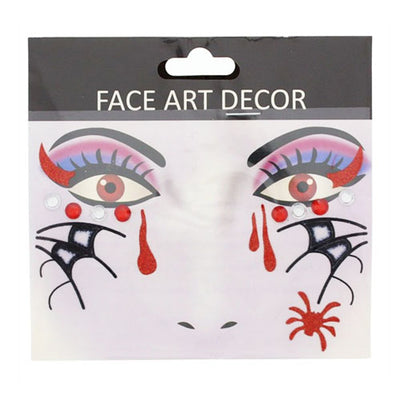 Halloween Face Stickers - Blood & Spiders