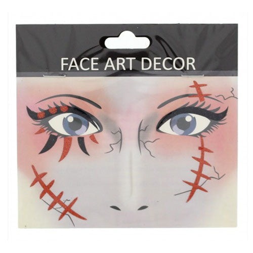 Halloween Face Stickers - Bloody Scars