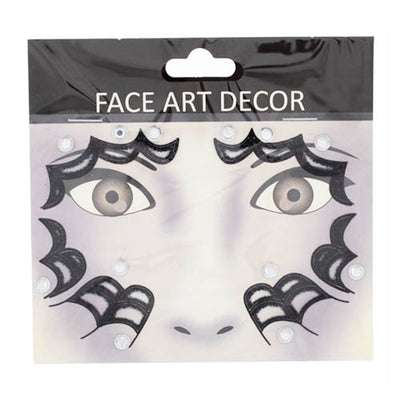 Halloween Face Stickers - Spider Webs