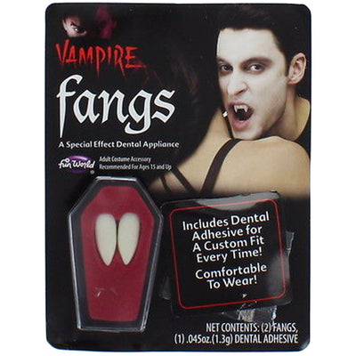 Halloween Fake Vampire Fangs with Dental Adhesive