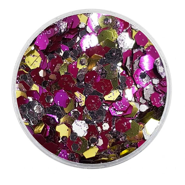 MUOBU Biodegradable Mixed Glitter - Metallic Festival Chunky Glitter Mix (BioGalactic)