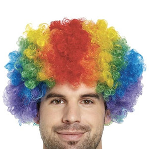 Gay Pride Rainbow Clown Style Wig