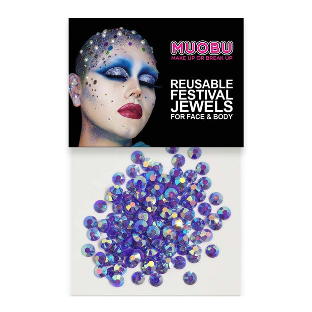 Lilac Unicorn Diamontes - Face & Body Gems 4mm