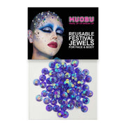 Lilac Unicorn Diamontes - Face & Body Gems 6mm