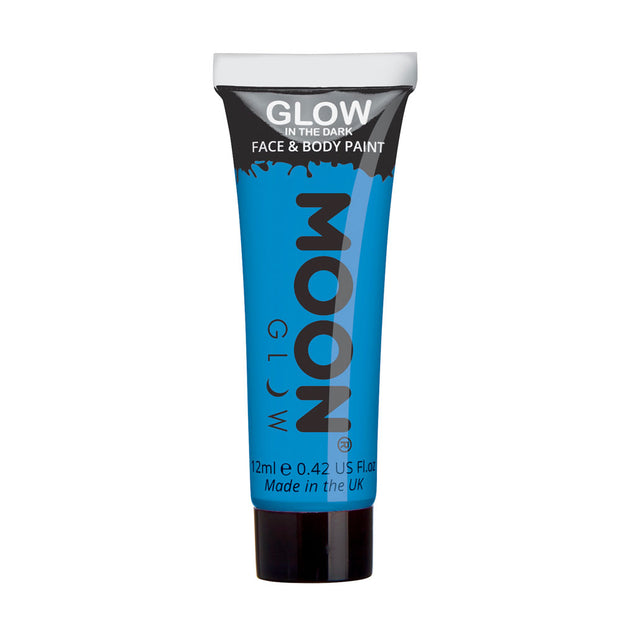 Moon Creations Glow In The Dark Face & Body Paint - Blue