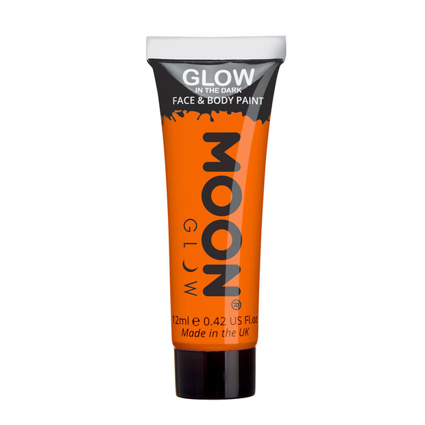 Moon Creations Glow In The Dark Face & Body Paint - Orange