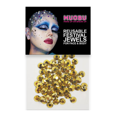 Gold Diamontes - Face & Body Gems 6mm