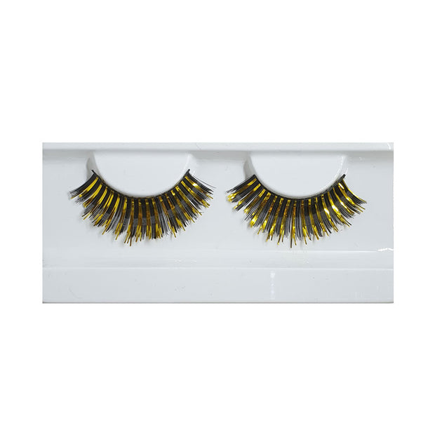 Festival False Lashes - Black & Gold Foil
