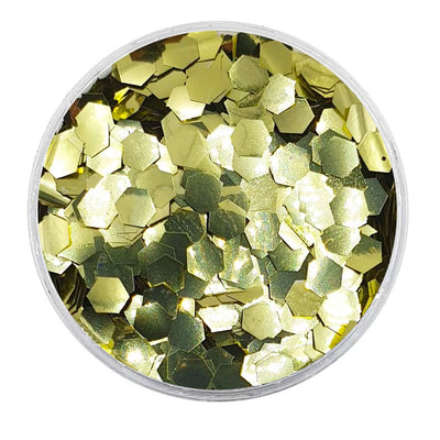 MUOBU Biodegradable Gold Glitter - Chunky Hexagon Metallic Glitter