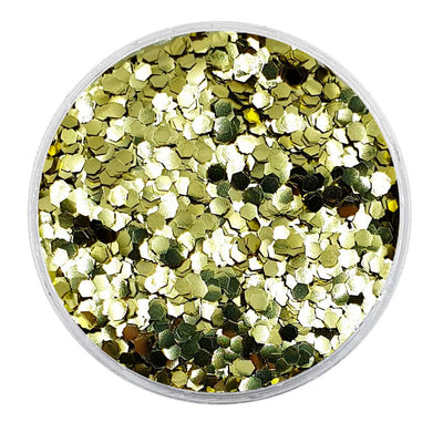MUOBU Biodegradable Gold Glitter - Mini Hexagon Metallic Glitter