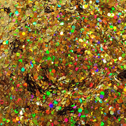 Gold Festival Glitter (Holographic Chunky Glitter Mix) - Gold Shimmer