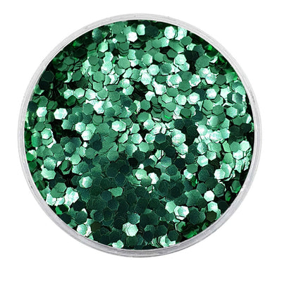 MUOBU Biodegradable Green Glitter - Mini Hexagon Metallic Glitter