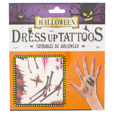 Halloween Hand Tattoos - Nails & Stitches