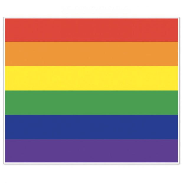 Gay Pride Rainbow Giant Insta-Mural Plastic Backdrop (6ft x 5ft)