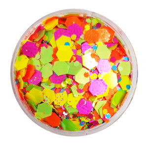 Mixed Chunky Glitter (Neon UV Glitter Mix) - Jelly Belly