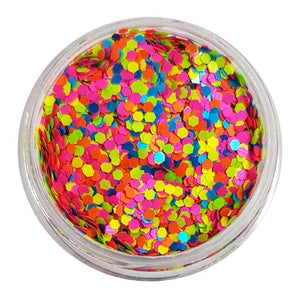 Jelly Bean - Mixed UV Mini Hexagon Glitter