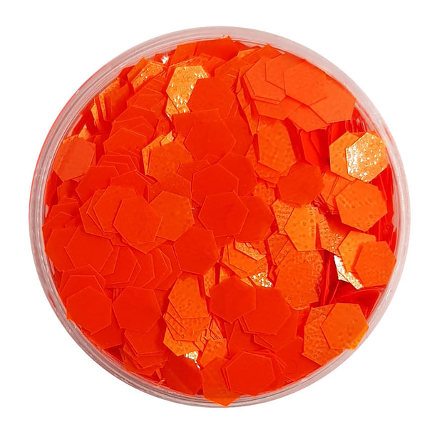 Bright Orange Large Flake Glitter (Neon UV Glitter) - Juicy Lucy