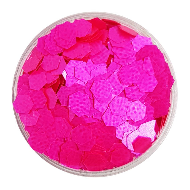Bright Pink Large Flake Glitter (Neon UV Glitter) - One In The Pink