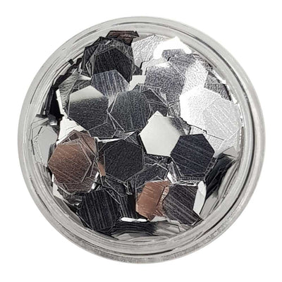 Reflection Perfection - Silver Metallic Chunky Hexagon Glitter