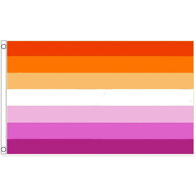 Lesbian Pride Flag - Sunset All Inclusive (5ft x 3ft Premium)