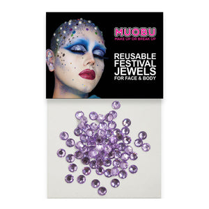 Lilac Diamontes - Clear Face & Body Gems 4mm
