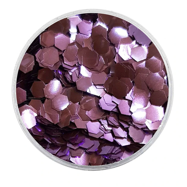 MUOBU Biodegradable Lilac Glitter - Chunky Hexagon Metallic Glitter