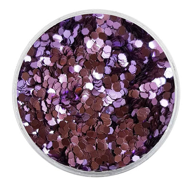 MUOBU Biodegradable Lilac Glitter - Mini Hexagon Metallic Glitter