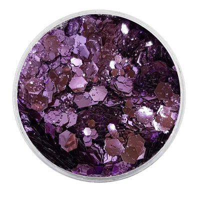 MUOBU Biodegradable Lilac Mixed Glitter - Metallic Festival Chunky Glitter Mix (BioFlowerPower)