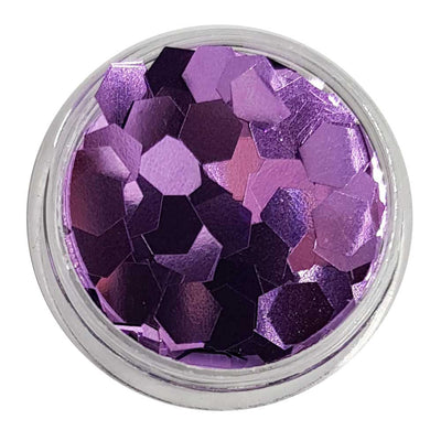 Amazing Grace - Lilac Metallic Mini Hexagon Glitter