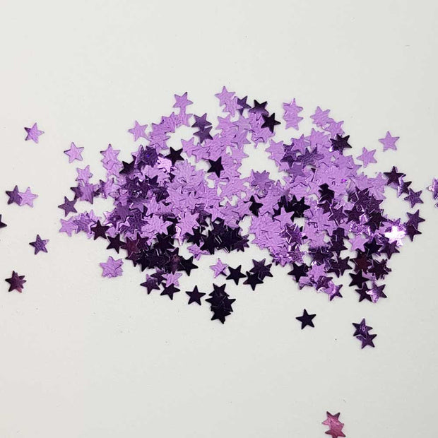 ChiChi Loves A Kiki - Lilac Metallic Glitter Stars