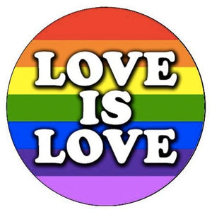 Love Is Love Rainbow Small Pin Badge