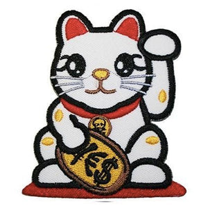 Lucky Cat Iron-On Festival Patch