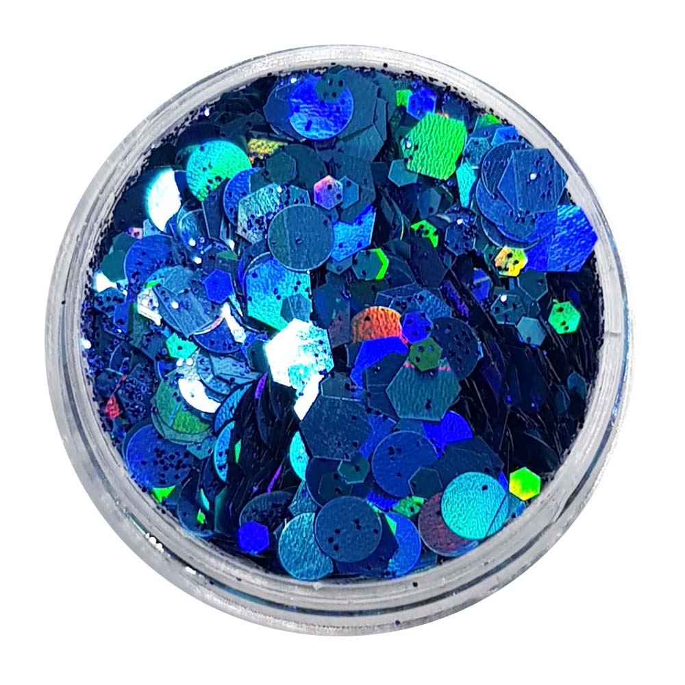Mermaid Blue Festival Glitter (Holographic Chunky Glitter Mix) - Mermaid Blue