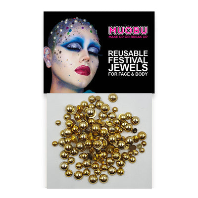 Gold Pearls - Face & Body Pearls (Mixed Size Pack)