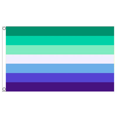 Gay Male / MLM (Men Loving Men) Flag (5ft x 3ft Premium)