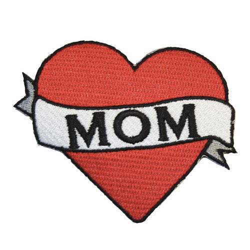 Mom Heart Iron-On Festival Patch