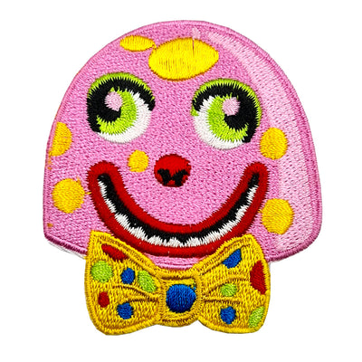 Mr Blobby Embroidered Iron-On Festival Patch