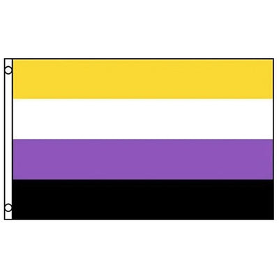 Non Binary Pride Flag (3ft x 2ft Premium)