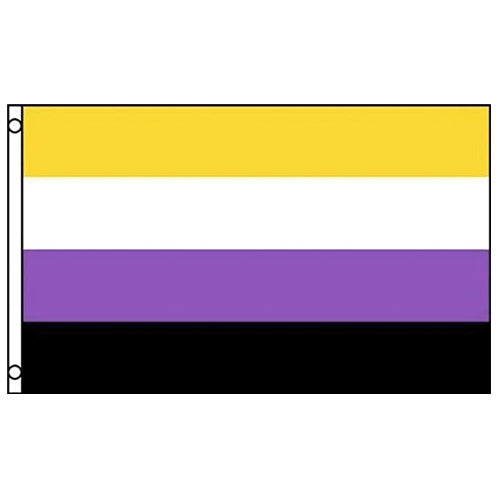 Non Binary Pride Flag (5ft x 3ft Premium)