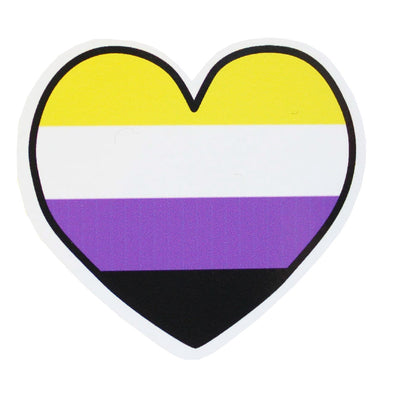 Non Binary Heart Vinyl Sticker